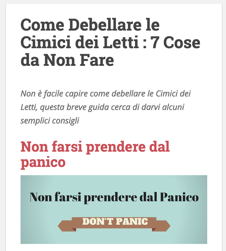 Visita www.cimicideiletti-torino.it - il nostro sito dedicato al fenomeno cimici dei letti.